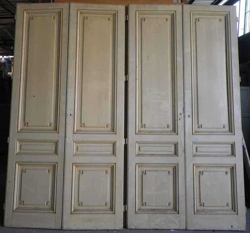 Portes en bois anciennes id es de for Porte double vantaux interieur