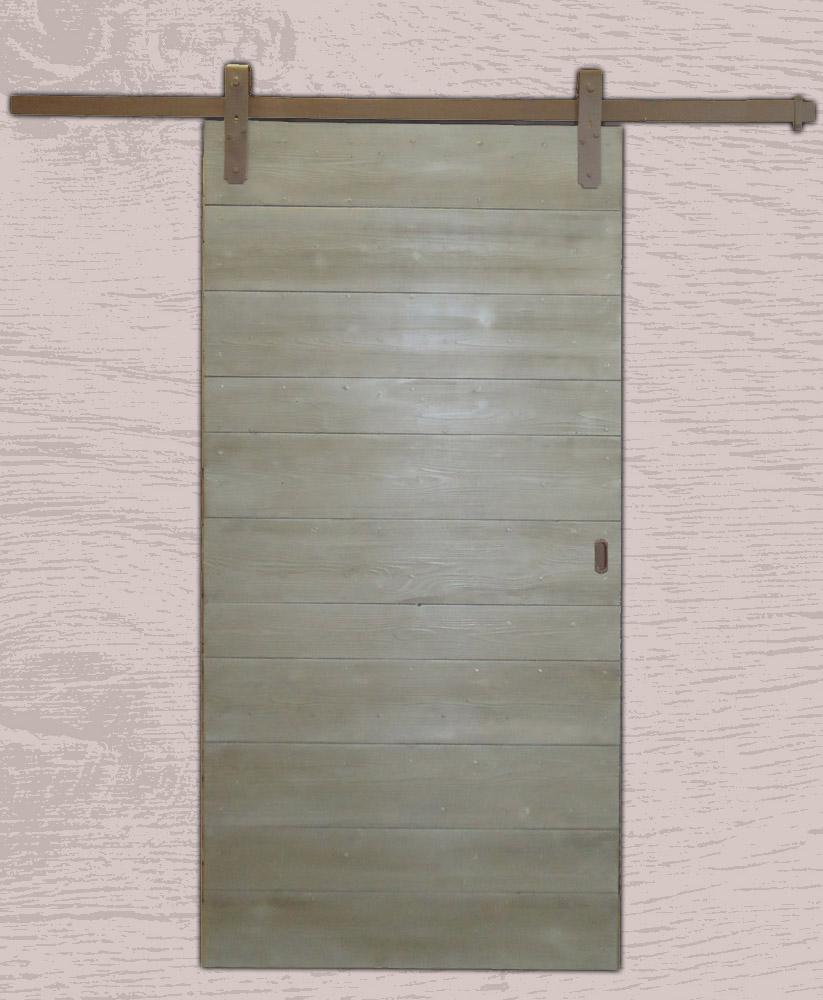 Portes coulissantes avec rail m tal et roulettes sur platines - Porte coulissante metal ...