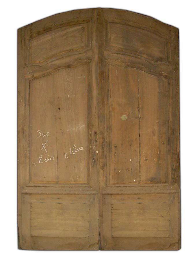 E2v 19 porte d 39 entree 2 vantaux en chene - Porte entree 2 vantaux ...