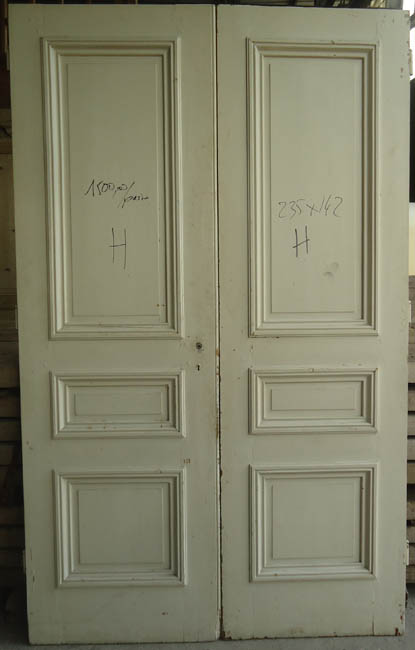 Portes de communication anciennes pleines 2 vantaux for Porte a acheter