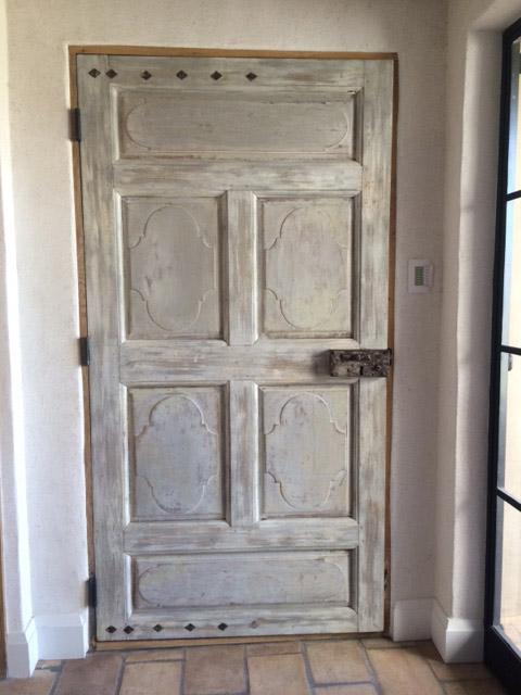 Porte interieure ancienne avec peinture for Porte interieure vitree ancienne