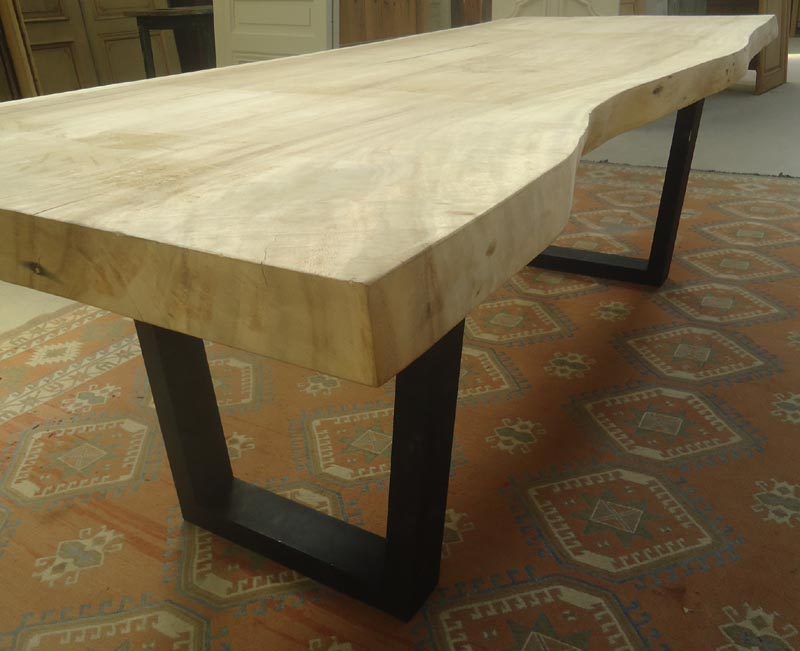 Fabrication table en vieux bois for Fabrication table bois