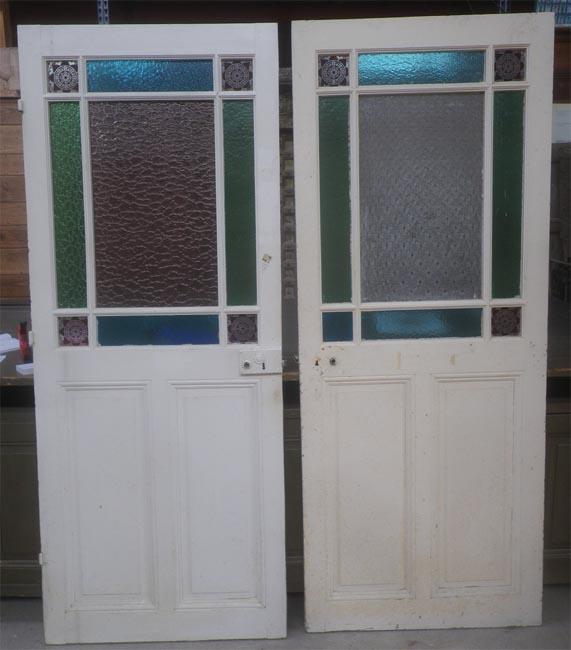 Portes Vitr Es D 39 Interieurs Anciennes