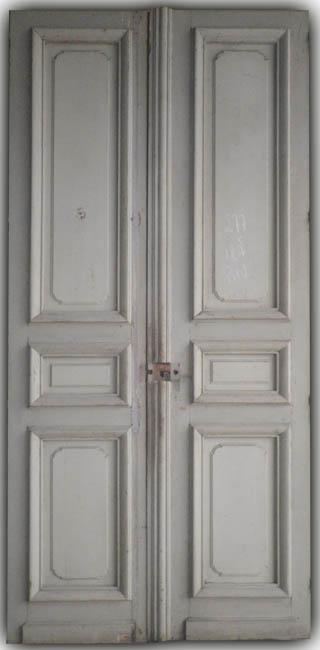 Portes de communication anciennes pleines 2 vantaux for Fenetre haussmannienne