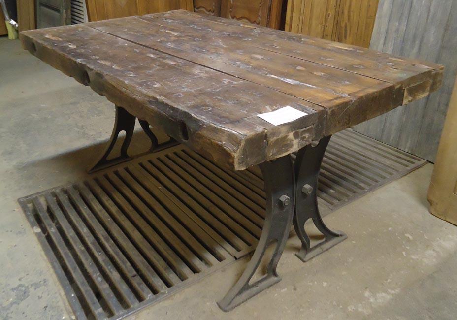 Fabrication Table En Vieux Bois