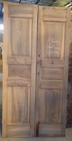 portes de communication anciennes pleines 2 vantaux. Black Bedroom Furniture Sets. Home Design Ideas