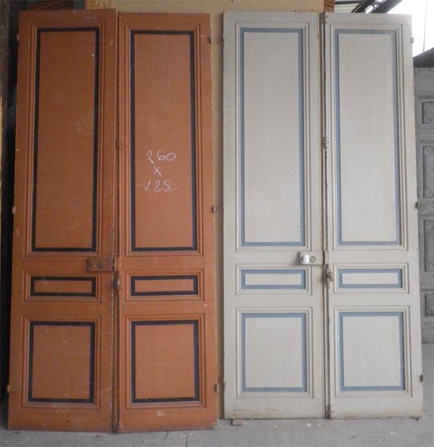 Portes de communication anciennes pleines 2 vantaux for Porte interieur point p
