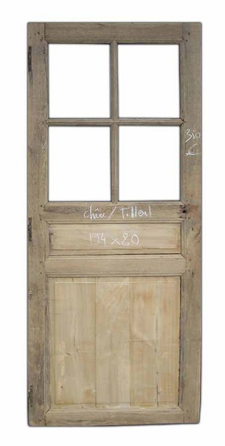 C1va10 porte d 39 interieur 4 carreaux chene tilleul for Porte a carreaux interieur