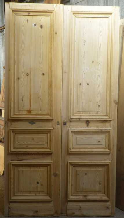 portes de communication anciennes pleines 2 vantaux vente de portes anciennes et contemporaines. Black Bedroom Furniture Sets. Home Design Ideas