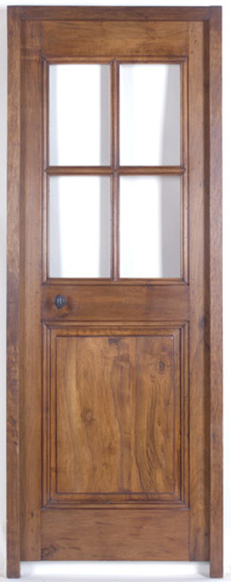 Porte d 39 interieur 4 carreaux noyer - Portes d interieur vitrees ...