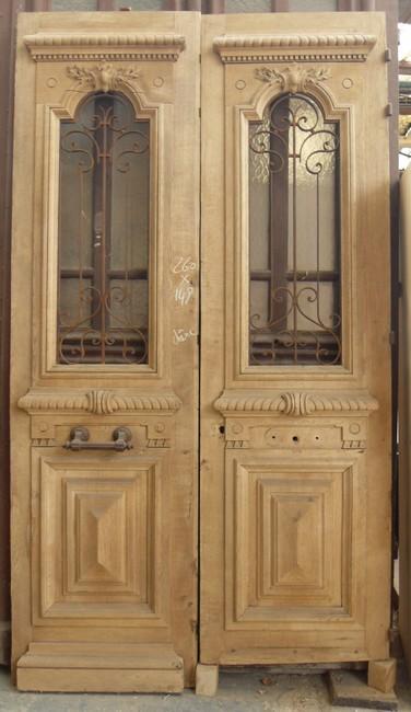 Portes d 39 entree anciennes ajourees 2 vantaux vente de portes anciennes - Portes interieures anciennes ...