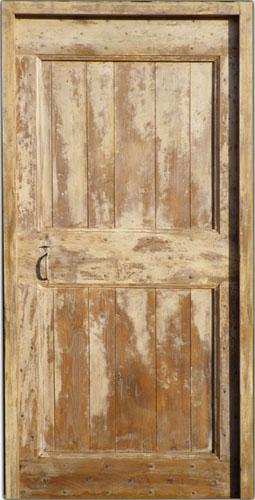 Porte d 39 interieur chene avec peinture vieillie for Peinture porte interieur