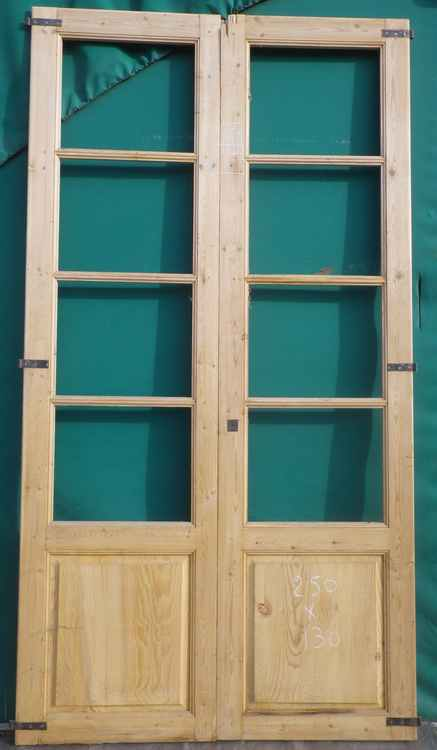 Porte double battant interieur for Porte 2 vantaux bois