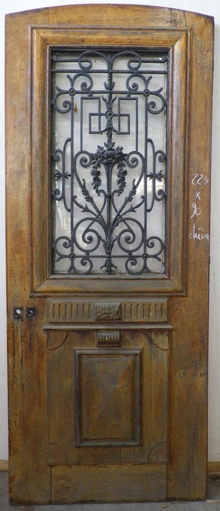 Portes d 39 entree anciennes ajourees un vantail vente de for Porte exterieur occasion