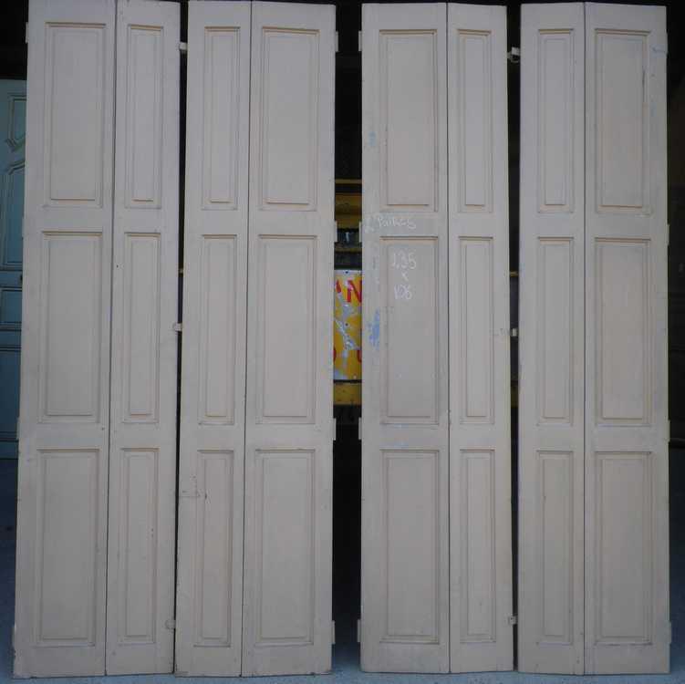 Placard en pin xix eme vente de portes anciennes et contemporaines - Volet persienne ancien ...