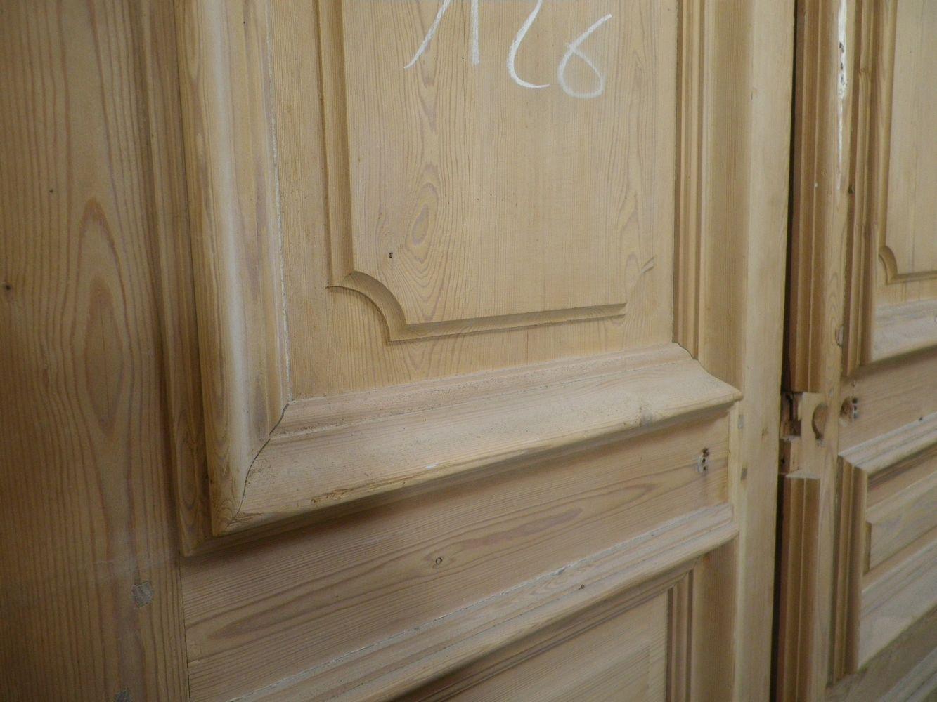 C2v16 porte d 39 interieur 2 vantaux en pin for Porte haussmannienne