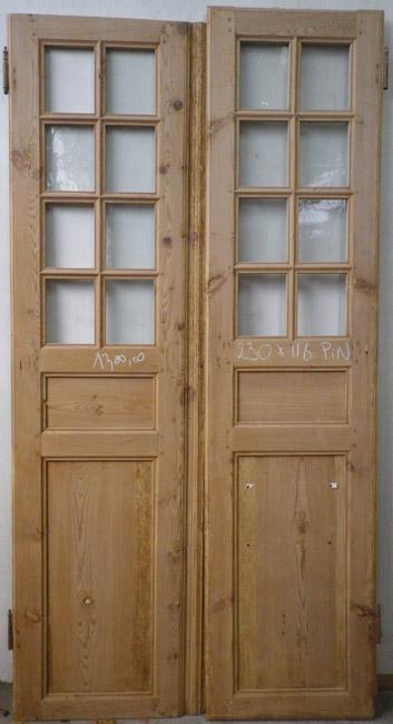 porte d 39 interieur 2 vantaux vitr e ancienne. Black Bedroom Furniture Sets. Home Design Ideas