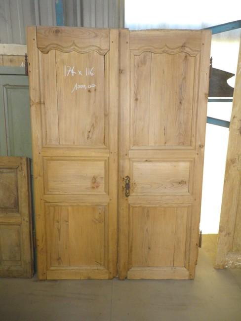 Porte placard battant bois 175017 for Porte placard bois