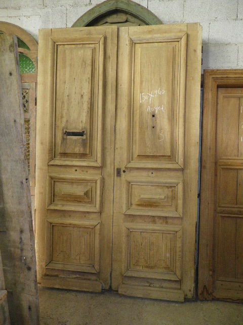 portes d 39 entree anciennes pleines 2 vantaux vente de portes anciennes et contemporaines. Black Bedroom Furniture Sets. Home Design Ideas